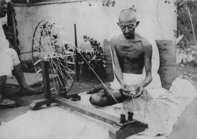 Gandhi and his Charkha